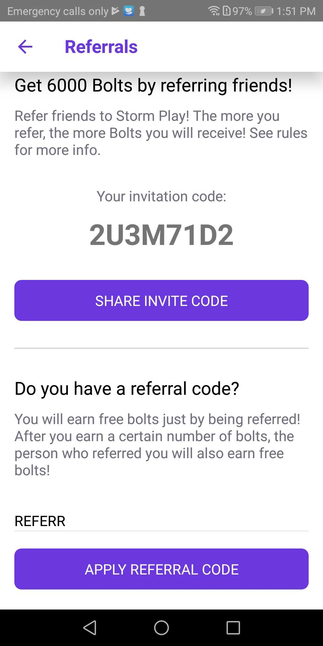 Can I earn free Bolts by referring my friends? – StormX